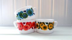 arcopal lotus cups 70s by arseizhavel on Etsy, €12.00