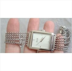 ELLE Jewelry Sterling Silver NEW bangle CHAIN SIGNED SWISS 30M RES WRIST WATCH Listing in the Other,Watches,Jewellery & Watches Category on eBid Canada