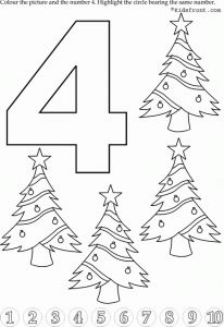preschool number 4 worksheets (7)