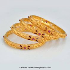 Gold Bangle Sets, Gold Bangle Desings, Gold Bangle Collections.