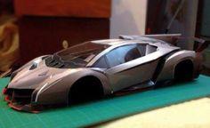 Detailed Lamborghini Veneno Paper Car Ver.3 Free Vehicle Paper Model Download