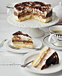 Ciasto Torcik Bananowe Niebo Bez Pieczenia - PRZEPIS Mała Cukierenka Polish Desserts, Polish Recipes, Baking Recipes, Cake Recipes, Dessert Recipes, Sweet Desserts, Sweet Recipes, Torte Cake, Cheesecake