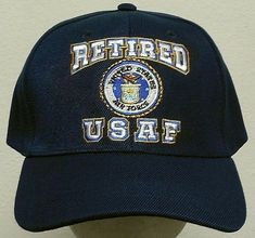 USAF AIR FORCE WING SIDE USA FLAG BALL CAP HAT BLUE NEW
