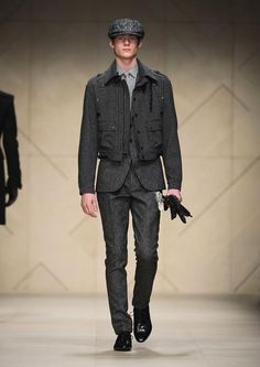 Burberry prorsum A/W 2012  how to wear short outwear on suit #season trend