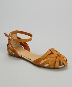 Love this Tan Woven Zaire Sandal by Bumper on #zulily! #zulilyfinds