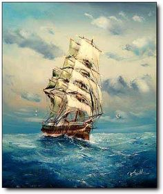 i'm looking for the perfect painting of a ship to put in our baby's room... if its a boy... and when he has a room.