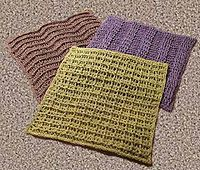 Ravelry: Dishcloth in linen yarn x3 pattern by Virkpia - Pia Lindén