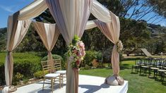 Garden Gazebo for wedding ceremony Garden Gazebo, Draping, Event Design, Wedding Ceremony, Centerpieces, Wedding Decorations, Party Ideas, Layout, Outdoor