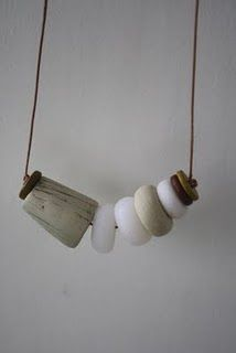 *2****vs............./////                                  Polymer clay necklace on leather string
