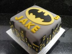 Batman Birthday Cake - cake by Debbie Batman Birthday Cakes, Batman Cakes, Batman Party, Cake Birthday, 5th Birthday, Birthday Ideas, Cake Cookies, Cupcake Cakes, Fondant Cakes