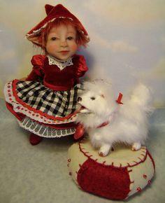 OOAK Art doll Valentine Pixie & Puppy  www.poppenmoon.com