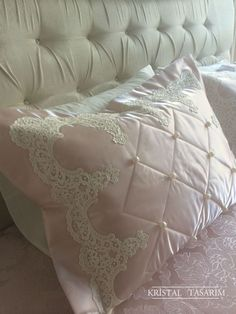 Cot Bedding, Bedding Sets, Bed Cover Design, Egyptian Cotton Duvet Cover, Embroidered Bedding, Shabby Chic Pink, Linens And Lace, Diy Sewing Projects, Little Girl Rooms