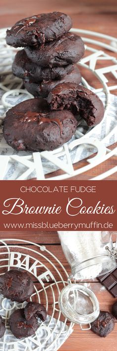 Die besten chocolate Fudge Brownie Cookies! Ich liebe diese Konsistenz! Chocolate Recipes, Chocolate Fudge Cookies, Brownie Recipes, Cookie Recipes, Espresso Brownies, Coffee Brownies, Nutella Brownies, No Bake Cookies, Chip Cookies