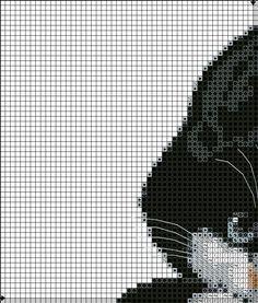 . Voilà donc la grille complète en agrandi . Elle a été réalisée à la souris (un comble pour un chat lol) Par contre je ne connais pas la provenance du dessin original Je vais voir pour mettre la grille en PAT et en PDF Peut-être même dans d'autres formats...