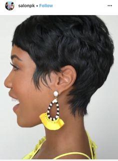 Short Sassy Hair, Medium Short Hair, Dope Hairstyles, Short Black Hairstyles, Short Haircut Styles, Cute Haircuts, Relaxer, Relaxed Hair, Stylish Hair