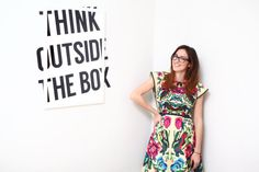 Think outside the box print art motivational by DilemmaPosters