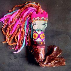 Mermaid toyart by Alinet Upcycled pachwork @alinet.oficial