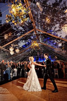 Just what I want for the reception! A huge dance floor! :) the dress is really pretty as well