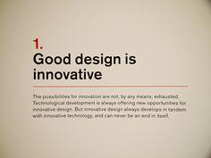 1. Dieter Rams: Principles for Good Design