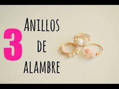 DIY Cocoa Abalorios: Cómo hacer tres anillos con alambre