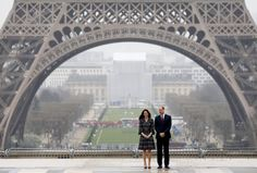 Je t'aime! Prince William and Duchess Kate blend business and romance in Paris, look loving at Eiffel Tower - AOL Entertainment