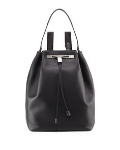 Backpack 11 Leather Hobo Bag, Black by THE ROW at Neiman Marcus.