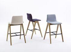NAUGHTONE Viv Wood barstool. Commercial grade bar stool  with modern elements. Some danish scandinavian influence. beautiful bespoke barstool.