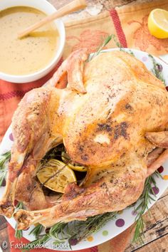 A simple and delicious roast turkey with the best (and easiest) gravy you'll ever try! Plus, it's Paleo and Whole30!