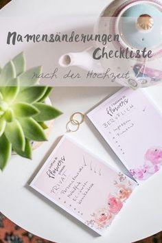Namensänderung Checkliste Hochzeit