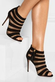 Aquazzura Wild Side suede and mesh sandals