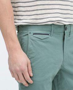 Image 5 of Basic cotton bermuda shorts from Zara