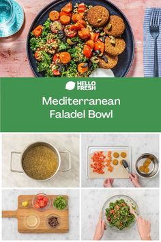 This vegetarian falafel bowl recipe is loaded with authentic Mediterranean flavours! Spiced with za'atar seasoning and topped with fresh herbs and veggies, you can whip it up in 35 minutes - so it's perfect for an easy weeknight dinner or lunch meal prep. Try the recipe now! Weeknight Recipes, Easy Weeknight Dinners, Balanced Meals, Lunch Meal Prep, Falafel, Mayonnaise, Fresh Herbs, Summer Recipes, Vegetarian Recipes