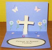 Easter Jesus Is Risen Pop-up Card