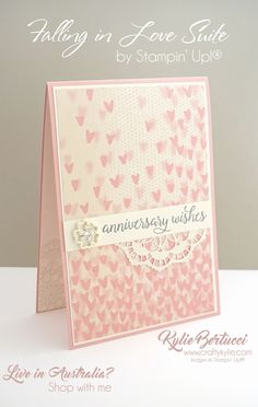 Kylie Bertucci - Falling In Love Suite by Stampin' Up! Click on the picture to see my Crazy Crafters teams blog hop with Georgia Giguere. So many wonderful projects to see.