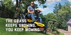 The grass keeps growing. You keep mowing. #CubCadet #LawnTractor #ZeroTurnMower