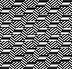 Seamless geometric pattern in op art design. Vector art. Stock Photo