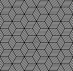 Seamless geometric pattern in op art design. Vector art. Stock Photo
