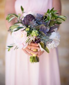Blueberry Bridal Bouquets | Annie McElwain Photography | blog.theknot.com