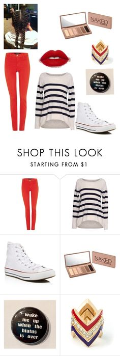"""Lol"" by kalihesters8 ❤ liked on Polyvore featuring J Brand, Velvet by Graham & Spencer, Converse, Urban Decay and JustFab"