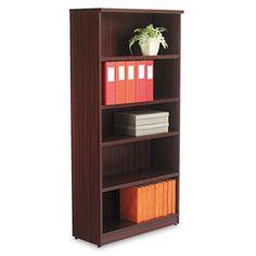 Valencia Series Bookcase, Five-Shelf, 31 3/4w X 14d X 65h, Mahogany