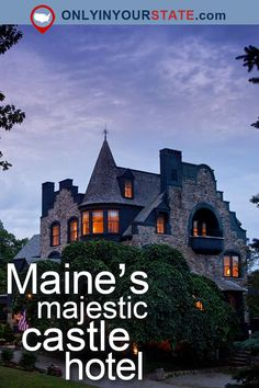 Travel Maine USA Places To Stay Destinations Attractions Castles Bucket List Camden Bed Breakfast Dining Restaurant Places To Eat Food Hidden Gems Maine Castles Oceanfront Luxury Vacations Getaways Bucket List Majestic Vacation Places, Vacation Destinations, Dream Vacations, Vacation Spots, Places To Travel, Greece Vacation, Romantic Vacations, Romantic Travel, Vacation Ideas