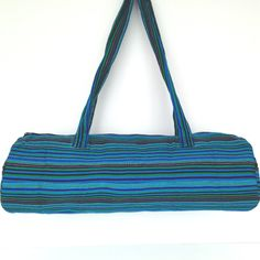 Beautiful backstrap weaving loom bag -- perfect size to carry your backstrap loom. This bag was itself woven on a backstrap loom by our partner artisans and is Loom Weaving, Hand Weaving, Gym Bag, Blues, Artisan, Turquoise, Stuff To Buy, Accessories, Education