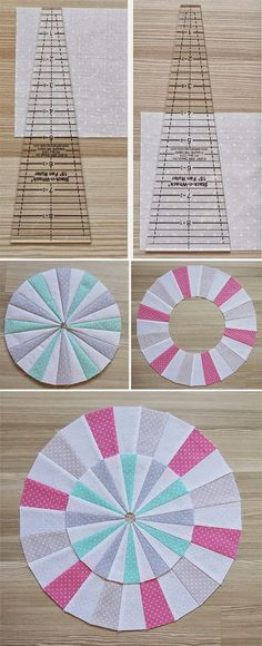 Learn how to cut, piece, pres and finish Dresden Fan Plate blocks