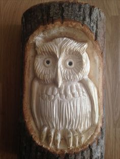 Dremel Wood Carving, Wood Carving Art, Wood Carvings, Carved Wooden Animals, Wooden Owl, Stick Man, Owl Art, Whittling, Painted Doors