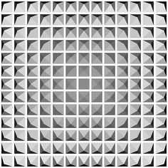 Diamonds IV (2015) - Dennis Smit. #opart #opticalart #geometric #blackandgrey #grey