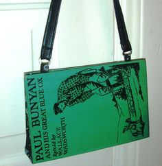 A Paul Bunyan book purse! I saw Paul in Minnesota when I was 12, and fell in love! For sale on Etsy http://etsy.me/yFd3VS