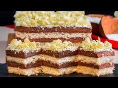 "Acum am inteles de ce toti iubesc prajitura ""Raffaello"" | SavurosTV - YouTube Cheesecake, Vanilla Cake, Tiramisu, Cookies, Chocolate, Baking, Breakfast, Ethnic Recipes, Tv"
