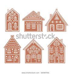 Cardboard Gingerbread House, Gingerbread House Designs, Christmas Gingerbread House, Noel Christmas, Christmas Cookies, Christmas Ornaments, Gingerbread Houses, Italian Christmas, Gingerbread Cookies