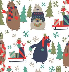 Our super cute All Wrapped Up Christmas giftwrap!  #Christmas #Giftwrap #Bears