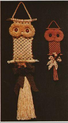 Macramé owls